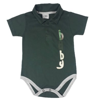 Body Bebê Polo Verde Baby