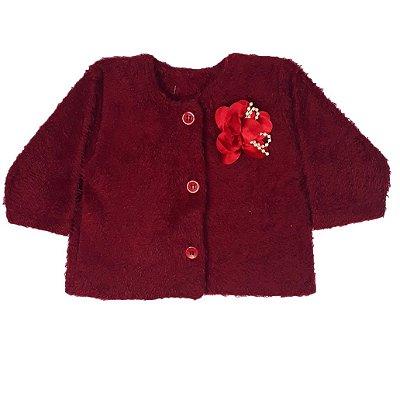 Casaco Bebê Pelo Vermelho