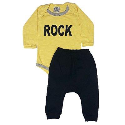 Conjunto Bebê Body Rock + Calça Saruel