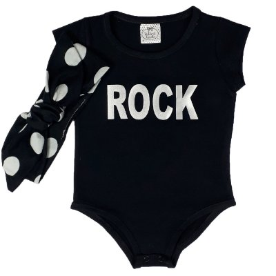 Body Infantil Rock + Turbante