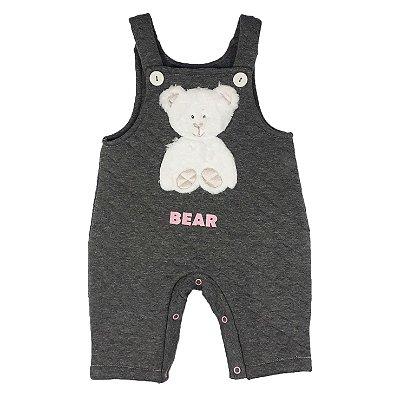 Jardineira Bebê Urso Bear