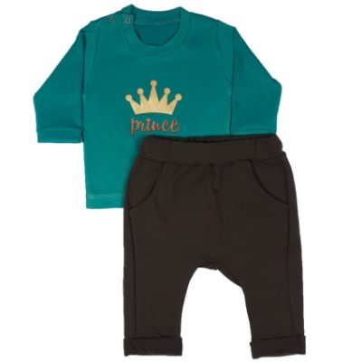 Conjunto Bebê Prince + Calça Saruel