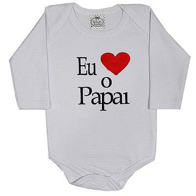 Body Bebê Amo O Papai