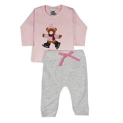 Conjunto Bebê Camiseta Urso + Saruel Plush