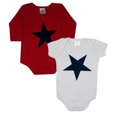 Body Bebê Estrelas