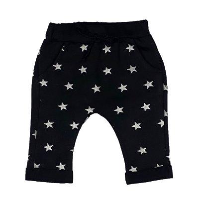 Calça Bebê Saruel Estrelas Preto