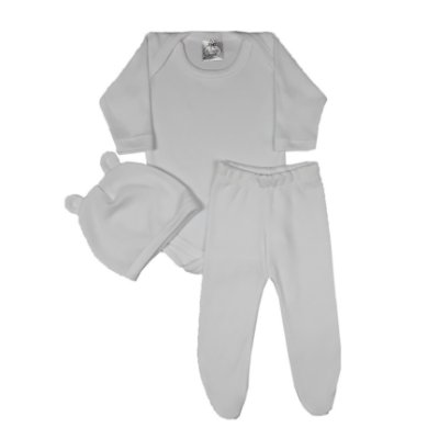 Conjunto Bebê 3 Peças Branco