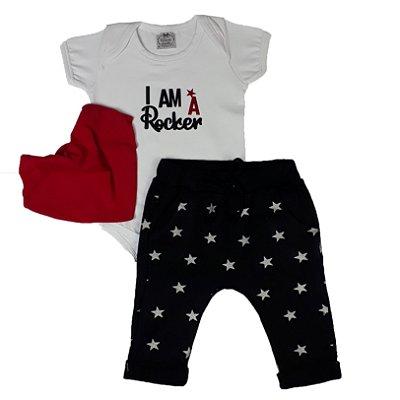 Conjunto Bebê 3 Peças Rock