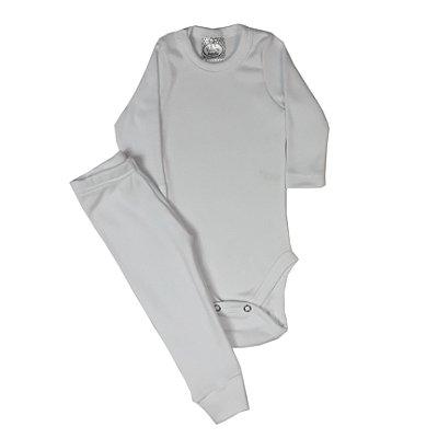 Conjunto Bebê Body E Calça Branco