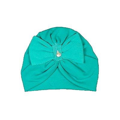 Turbante Infantil Azul Turquesa