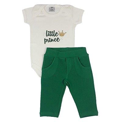 Conjunto Bebê Little Prince Verde
