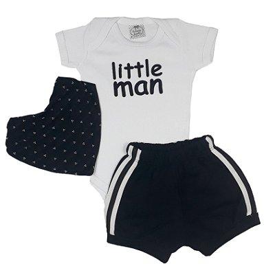 Conjunto Bebê Little Man Com Bandana