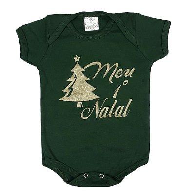 Body Bebê Meu 1º Natal