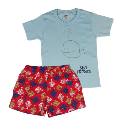 Conjunto Infantil Sea Friends