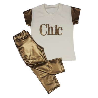 Conjunto Infantil Chic Dourado