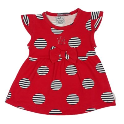 Vestido bebê Bola Vermelho