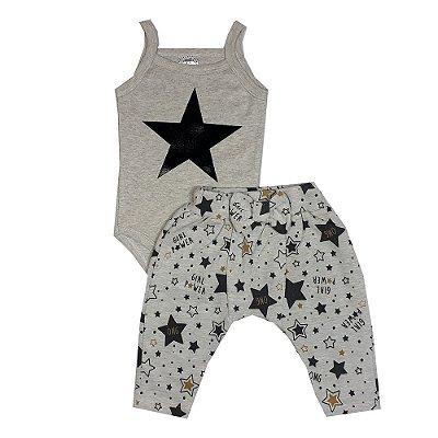 Conjunto Bebê Body E Calça Estrela