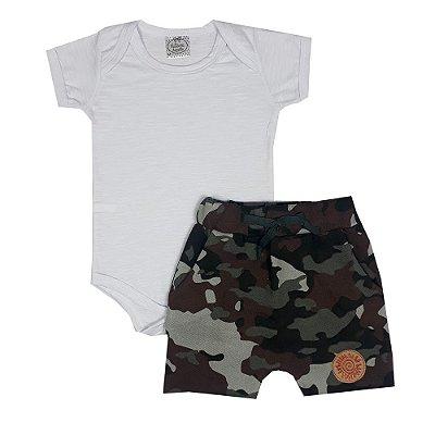 Conjunto Bebê Militar