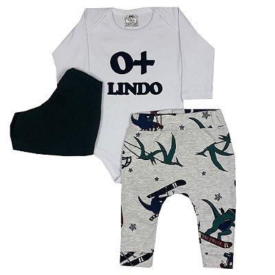 Conjunto Bebê O + Lindo Com Calça Saruel E Bandana