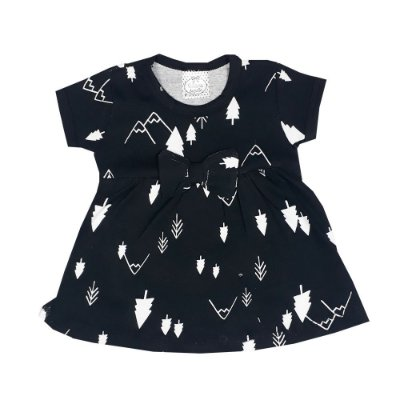 Vestido Bebê Pinheiro Preto