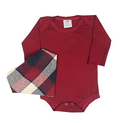 Body Bebê Vermelho + Bandana