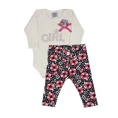 Conjunto Bebê Girl + Legging Floral