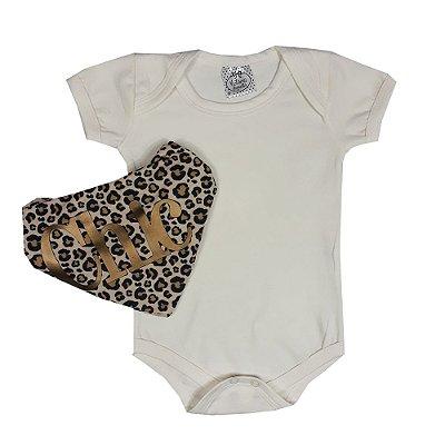 Body Bebê Bege + Bandana