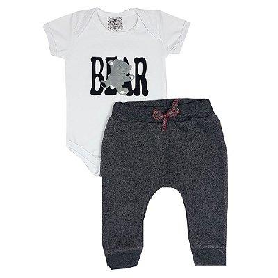 Conjunto bebê Bear Branco