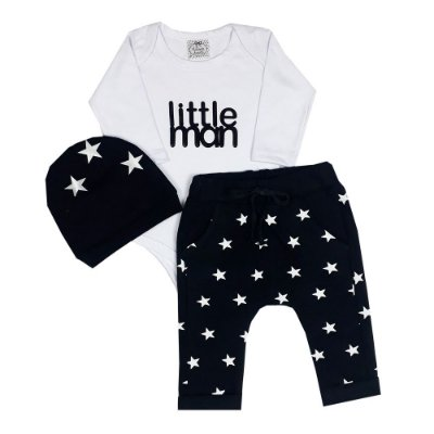 Conjunto Bebê Little Man + Touca