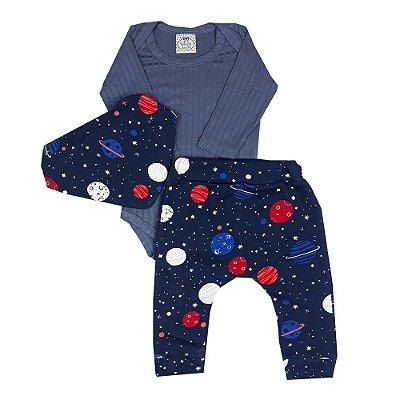 Conjunto Bebê Universo Azul
