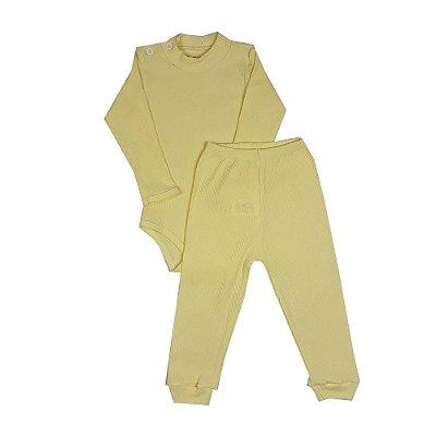 Conjunto Bebê Básico Amarelo