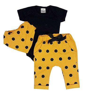 Conjunto Bebê Bola Amarela