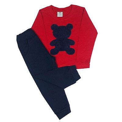 Conjunto Infantil Urso Azul Marinho