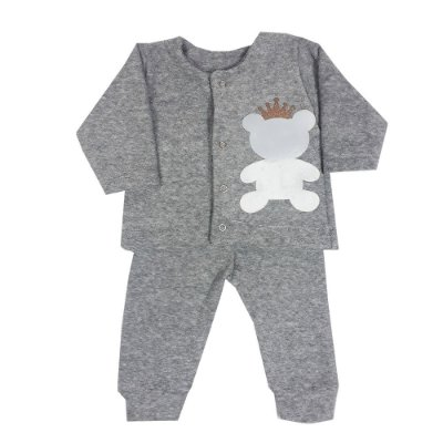 Conjunto Bebê Casaco + Calça Bucle Urso