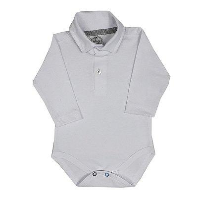 Body Bebê Polo Branco