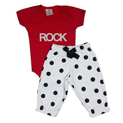 Conjunto Bebê Rock Vermelho