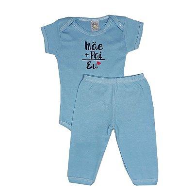 Conjunto Bebê Mãe + Pai Azul