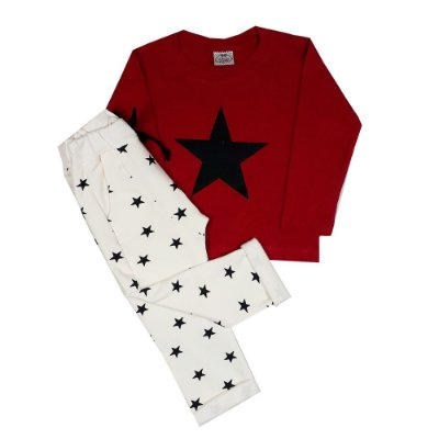 Conjunto Infantil Estrela Vermelha