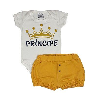 Conjunto Bebê Príncipe Amarelo