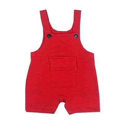 Jardineira Bebê Vermelha