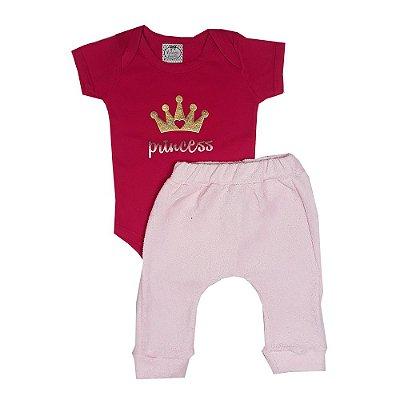 Conjunto Bebê Princess Rosa