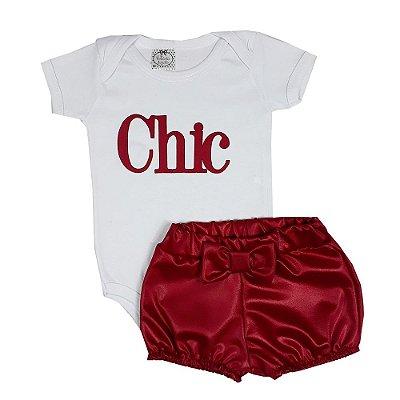 Conjunto Bebê Chic Vermelho