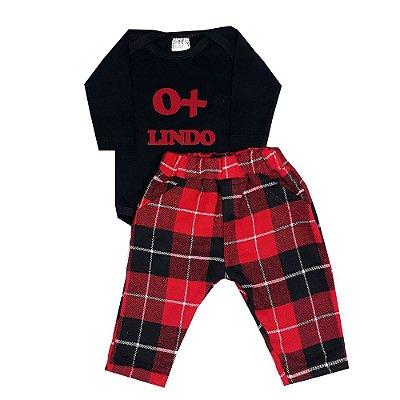 Conjunto Bebê O + Lindo Xadrez