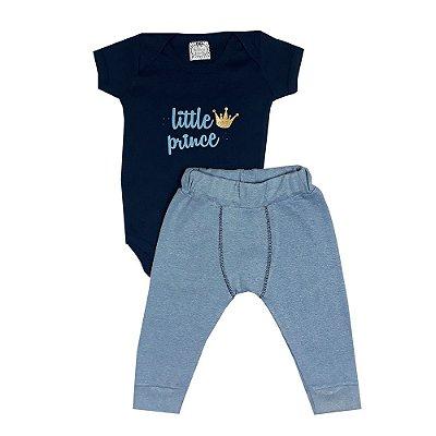Conjunto Bebê Little Prince Com Calça Boxer