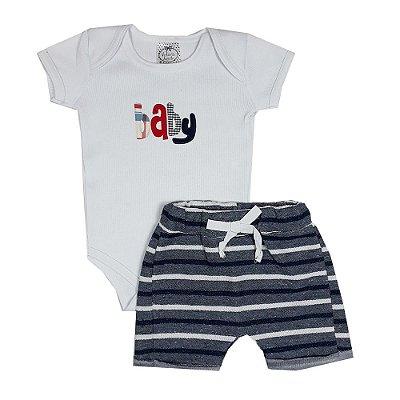 Conjunto Bebê Baby Listrado