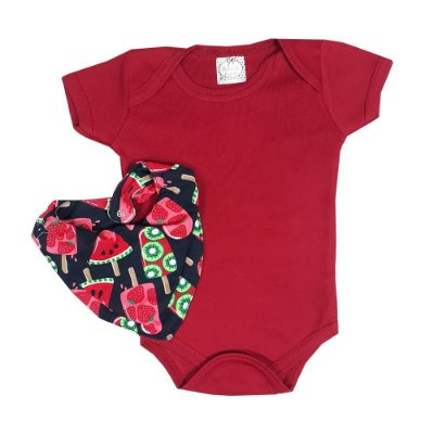 Body Bebê + Bandana Picolé