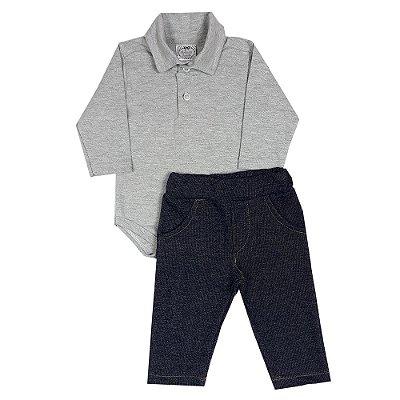 Conjunto Bebê Body Polo + Calça Jeans