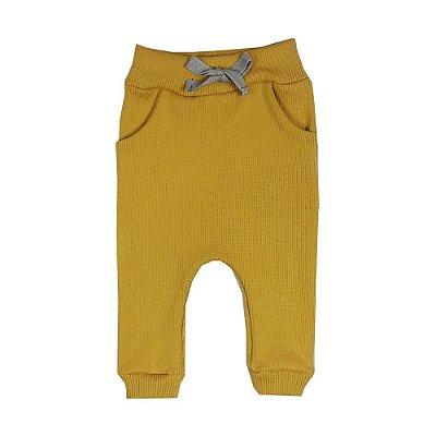 Calça Bebê Ribana Amarela