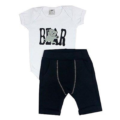 Conjunto Bebê Bear Preto