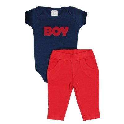 Conjunto Bebê Boy Vermelho